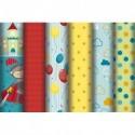 CLAIREFONTAINE Rouleau de papier cadeau 80g Chevalier. 5x0,7m. 6 design assortis