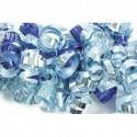CLAIREFONTAINE Sachet de 3 bandes froufrous (chaque bande : 10 rubans frisés). Coloris argent et bleu
