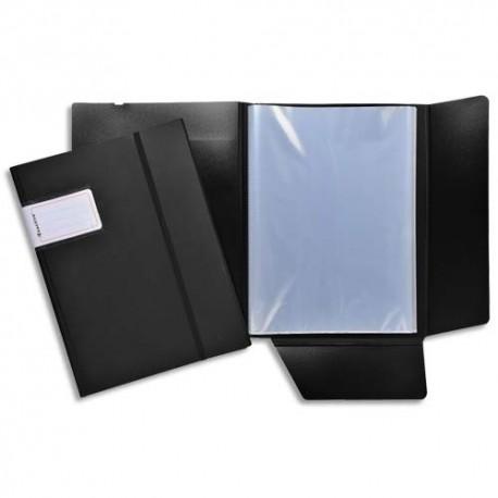 EXACOMPTA Protège document EXACTIVE, polypropylène 6/10e fermeture par élastique vertical