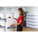 BANKERS BOX Tiroir de rangement, montage automatique, en carton recyclé bleu/blanc
