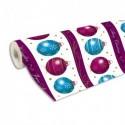 CLAIREFONTAINE Rouleau de papier cadeau ALLIANCE 80g . Spécial commercant : 50x0,7m. Boules de Noël