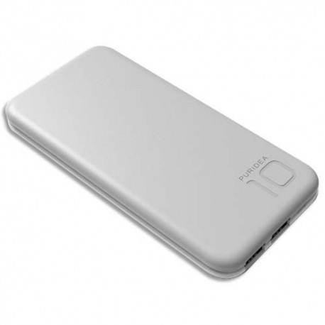 MOBILITY LAB Chargeur PURIDEA S2 10000 mAh gris S2-GREYWHITE