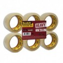 SCOTCH Ruban d'emballage Heavy en PP 57 microns - Dimensions : H50 mm x L66 mètres transparent BP976