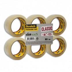 SCOTCH Ruban d'emballage Classic en PP 41 microns - Dimensions : H50 mm x L66 mètres transparent BP973