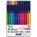 STAEDTLER Pochette de 26 feutres de coloriage Triplus.