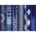 CLAIREFONTAINE Rouleau de papier cadeau 80g Bleu PREMIUM. 2x0,7m. 5 design assortis