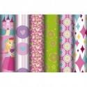 CLAIREFONTAINE Rouleau de papier cadeau 80g Princesses 5x0,7m. 6 design assortis