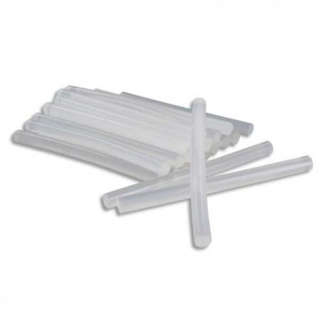 OCOLOR Sachet de 25 bâtons de colle forte transparente pour pistolet, diamètre 7 mm, longueur 10 cm