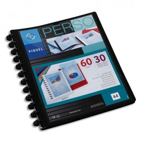 VIQUEL Protège-documents MAXI GEODE en pp opaque 5/10e. Couv personnalisable. 60 vues