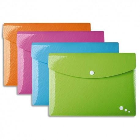 ELBA Pochettes enveloppes Art Pop pression polypropylène opaque 3,5/10è coloris assortis