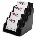 DEFLECTO Porte cartes visite 1x4 compartiment noir