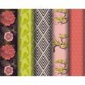 CLAIREFONTAINE Rouleau de papier cadeau 80g Fleurs PREMIUM. 2x0,7m. 5 design assortis
