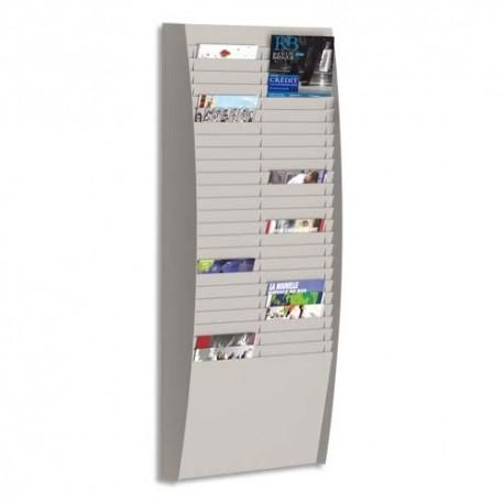 PAPERFLOW Trieur verticale à 50 cases A4, coloris gris. Dim. L54,4 x H112 x P12,9 cm