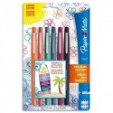 PAPERMATE Blister de 6 Flair Tropical - Assortis