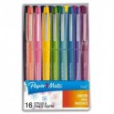 PAPERMATE Blister de 16 Flair Tropical - Assortis