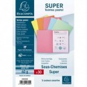 EXACOMPTA Paquet de 30 sous-chemises SUPER en carte 60g coloris assortis pastels