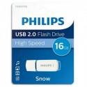 PHILIPS Clé USB 2.0 SNOW 16Go blanc/bleu FM016FD70B + redevance