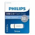 PHILIPS Clé USB 2.0 SNOW 32Go blanc/gris FM032FD70B + redevance