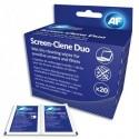 AF Boîte de 20 sachets duo humide/sec antistatiques pour tous type d'écrans (LCD, TFT et Plasma) ASCR020