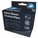 AF Boite de 50 sachets individuel de lingettes nettoyantes pour lunettes de sécurité ASGCS50