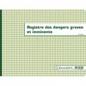 EXACOMPTA Registre Dangers graves et imminents format 24x32cm, piqure 20 pages foliotées 6622E
