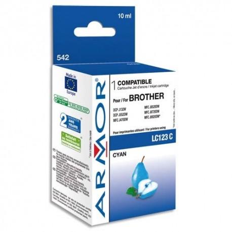 ARMOR Cartouche compatibilité BROTHER Cyan LC123C K20535
