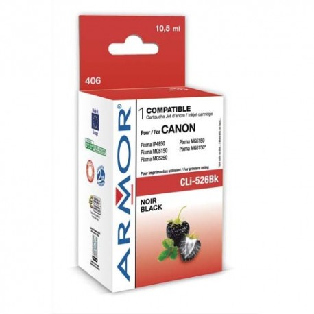 ARMOR Cartouche je compatible CLI-526BK K12561