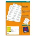 Etiquette AVERY DP24J - Boîte de 2400 étiquettes jaune fluo copieur dimensions 70x35mm (DP24J-100)