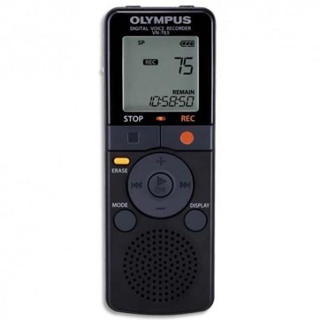 OLYMPUS Enregistreur numérique VN-765 4Go,85h autonomie,2200h enreg,2 qualité d'enreg,2 vitesses lecture