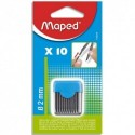 MAPED Blister étui de 10 mines de rechange pour compas pointe 2mm