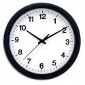 UNILUX Horloge Bio silencieuse en matières non fossiles, pile AA non fournie, coloris noir. Ø25,5 cm