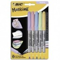 BIC Blister de 5 marking color. Assorti de couleurs pastels et intenses.