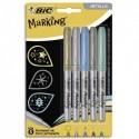 BIC Blister de 5 marking color. Assortis de couleurs métalliques.