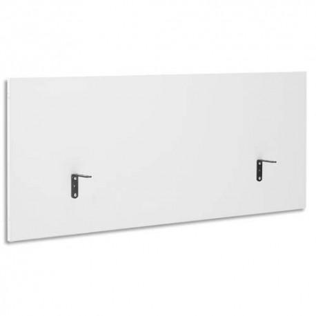 GAUTIER Ecran de séparation pour bureau Yes Blanc - Dimensions : L160 x H60 x P2 cm