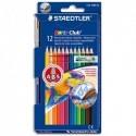 STAEDTLER Etui carton de 12 crayons de couleur aquarellables NORIS CLUB + 1 pinceau adapté