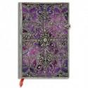 PAPERBLANKS - Carnet Filigrane Argenté Aubergine Ultra 18x23cm 240 pages lignées