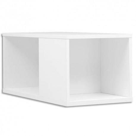 GAUTIER Top surmeuble pour caisson bout de bureau Yes Blanc - Dimensions : L80 x H37 x P42 cm