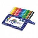 Boîte de 24 crayons de couleurs ERGOSOFT