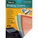 FELLOWES Boîte de 50 plats de couvertures fantaisie PVC transparent strié 500µ 5350601