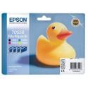 T0556 (T055640) EPSON Multipack cartouche jet d'encre 4 couleurs de marque Epson C13T055640