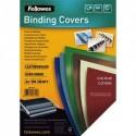 FELLOWES Boîte de 100 plats de couvertures grain cuir A4 vert foncé FSC 5371503