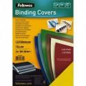 FELLOWES Boîte de 100 plats de couvertures grain cuir A4 jaune FSC 5370503