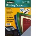 FELLOWES Boîte de 100 plats de couvertures grain cuir A4 bleu clair FSC 5371403