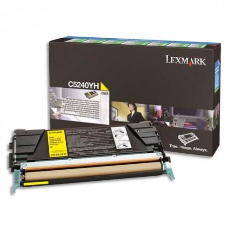 LEXMARK C500H2YG - Cartouche toner jaune longue durée de marque Lexmark C500H2YG