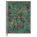 PAPERBLANKS - Carnet (fermeture élastique) Filigrane Argenté Esmeralda Ultra 18x23cm 240 pages lignées