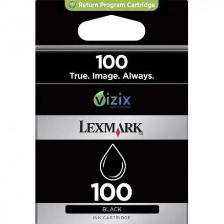 LEXMARK N°100 - Cartouche jet d'encre Noir de marque Lexmark N° 100 (014N820E)