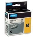 DYMO Cassette Rhino (18057) ruban Gaine thermo-retractable Rhino 19 mm HST noir sur blanc 18057