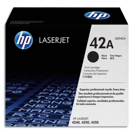 HP 42A (Q5942A) - Cartouche laser noir de marque HP Q5942A (HP 42A capacité simple)