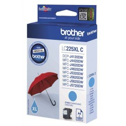 BROTHER LC-225C (LC225C) Cartouche jet d'encre cyan XL de marque brother LC225C (LC-225C)