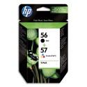HP 56/57 (SA342A) - pack de 2 cartouches jet d'encre noir et couleur de marque HP SA342AE (HP 56/57)